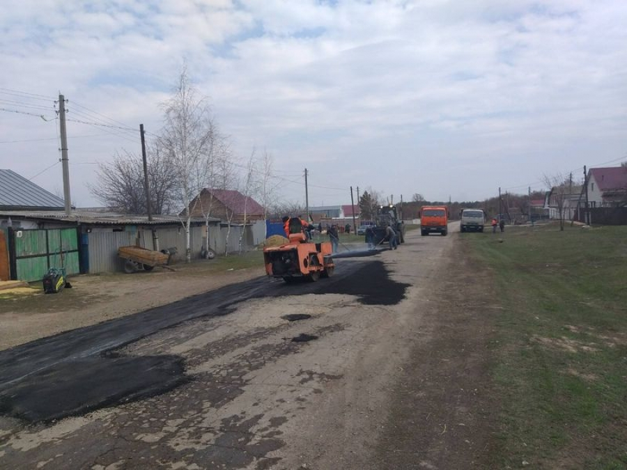 Ямочный ремонт улично-дорожной сети в с.Вязовка