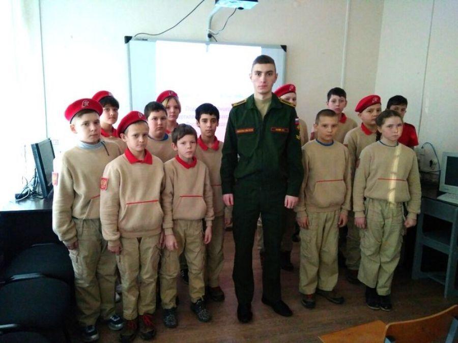 Встреча с военным курсантом