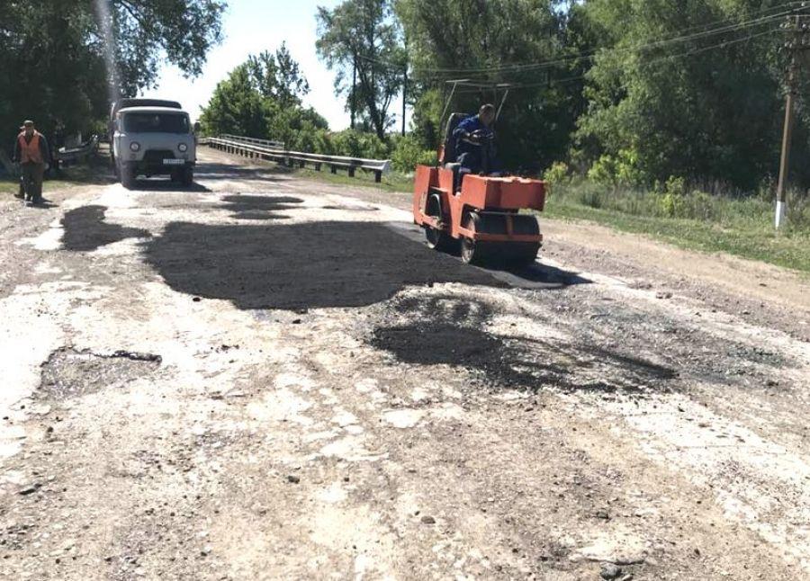 Ремонт дороги Карамышка-Куликовка