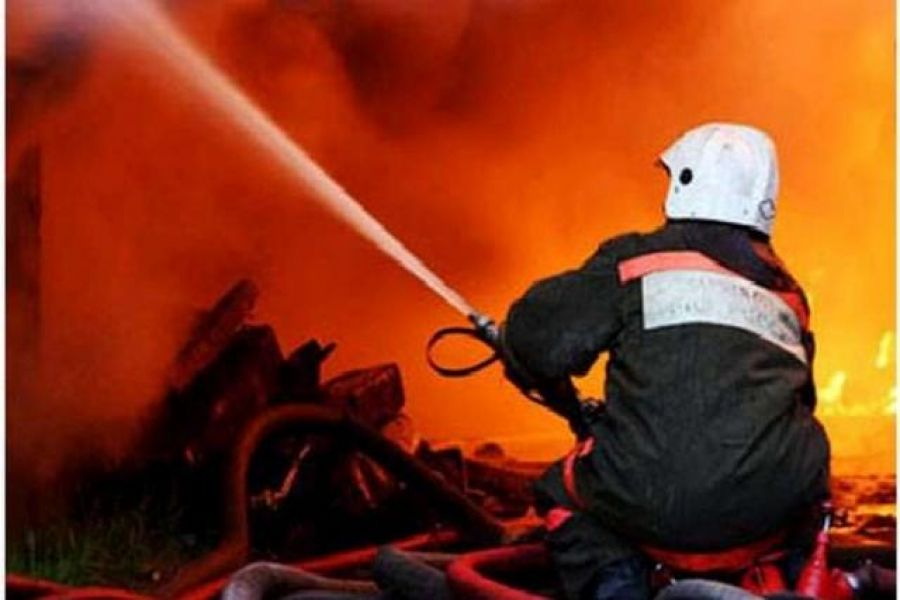 Возгорание хозяйственных построек в с.Октябрьский Городок