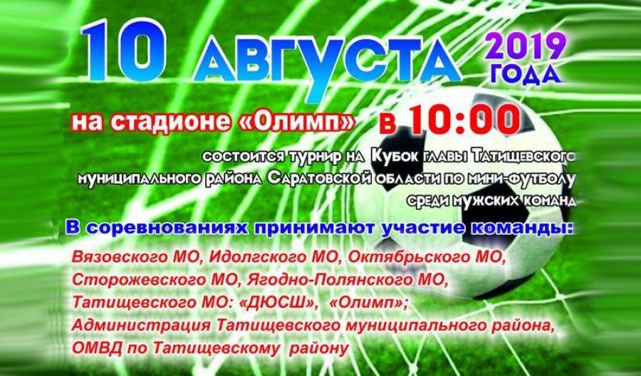 Турнир на Кубок главы Татищевского муниципального района по мини-футболу