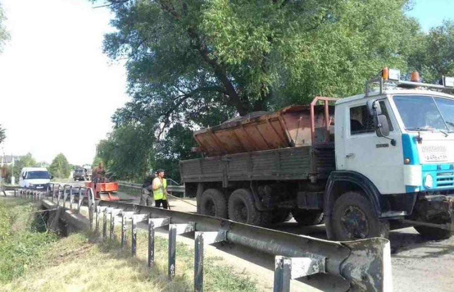 Ямочный ремонт дорог в Вязовском МО