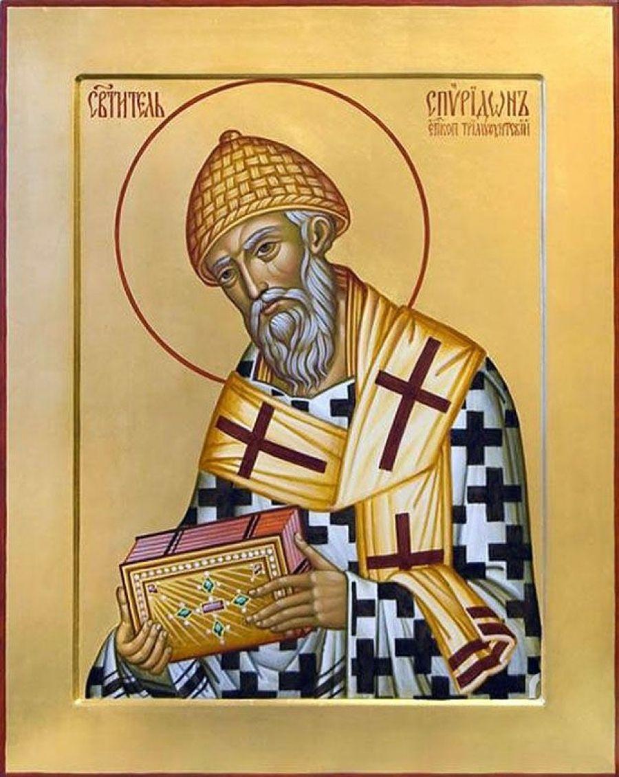 В р.п.Татищево - икона святителя Спиридона Тримифунтского