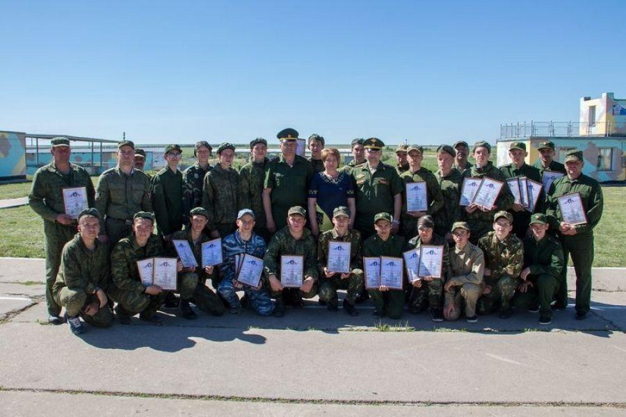 Завершились учебные военно-полевые сборы десятиклассников района