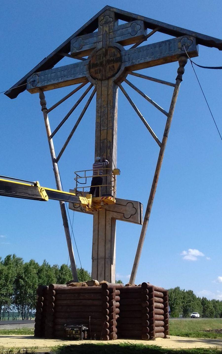 Реставрация Поклонного креста в Ягодно-Полянском МО