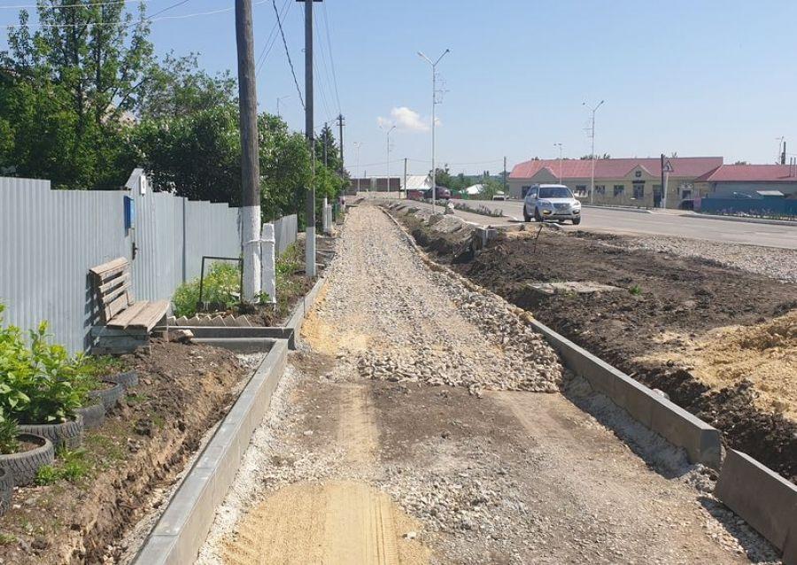 Реконструкция улицы Крупской продолжается