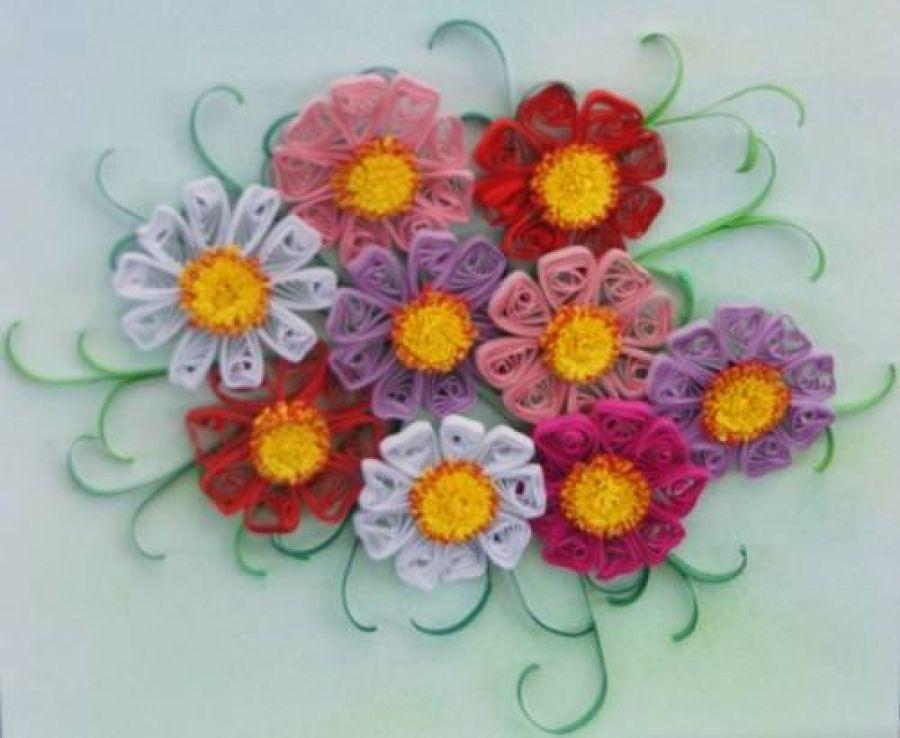 Мастер-класс по квиллингу «Весенние цветы»