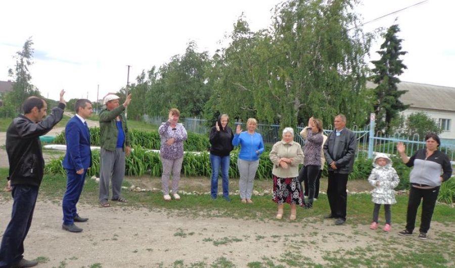 Выборы старших по улице в селе Большая Каменка