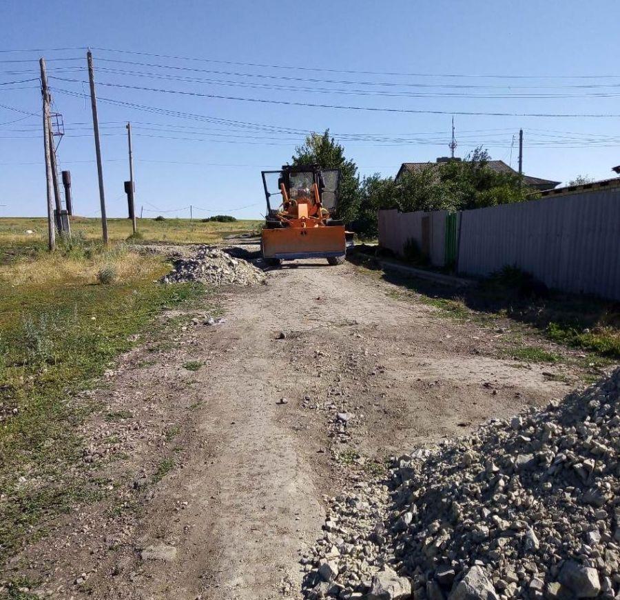 Грейдирование дороги в селе Большая Федоровка