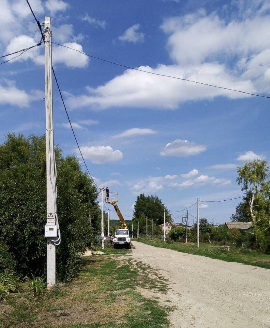 Ремонт уличных фонарей в селе Слепцовка