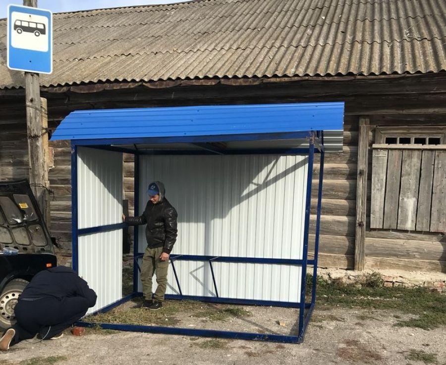 В поселке Тимирязевский установлен автобусный павильон