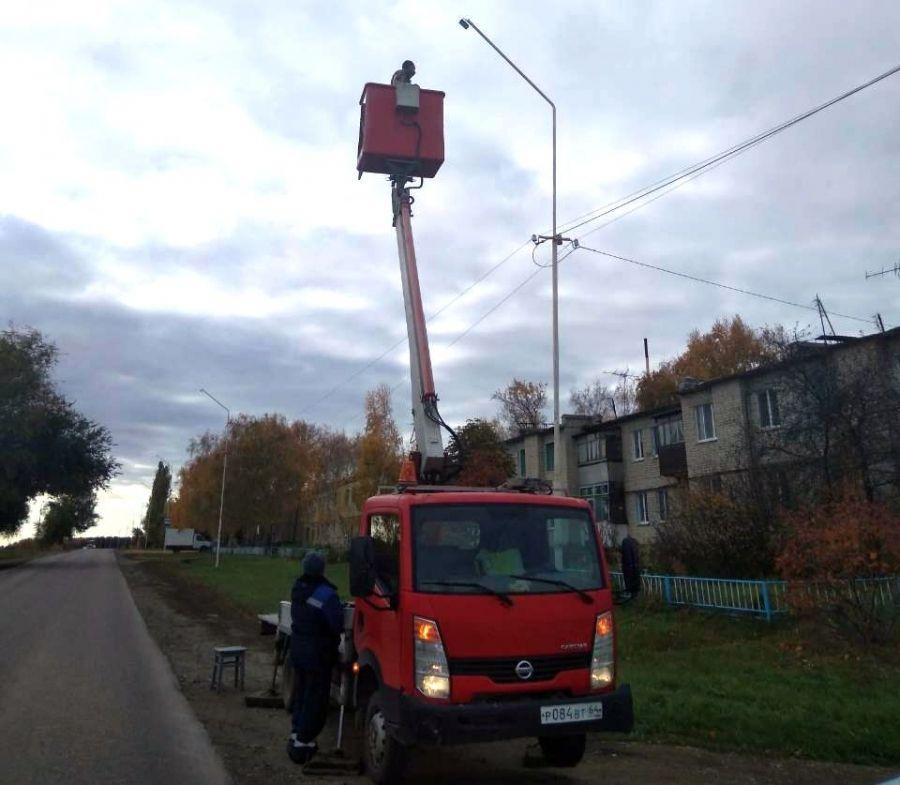 Замена фонарей в Вязовском МО