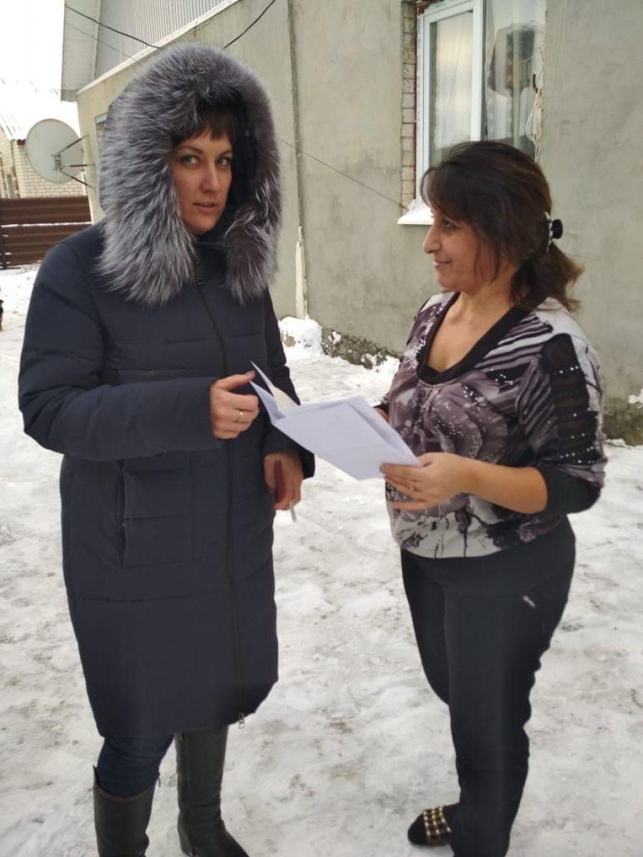В р.п. Татищево проведен рейд по взысканию задолженности по имущественным налогам
