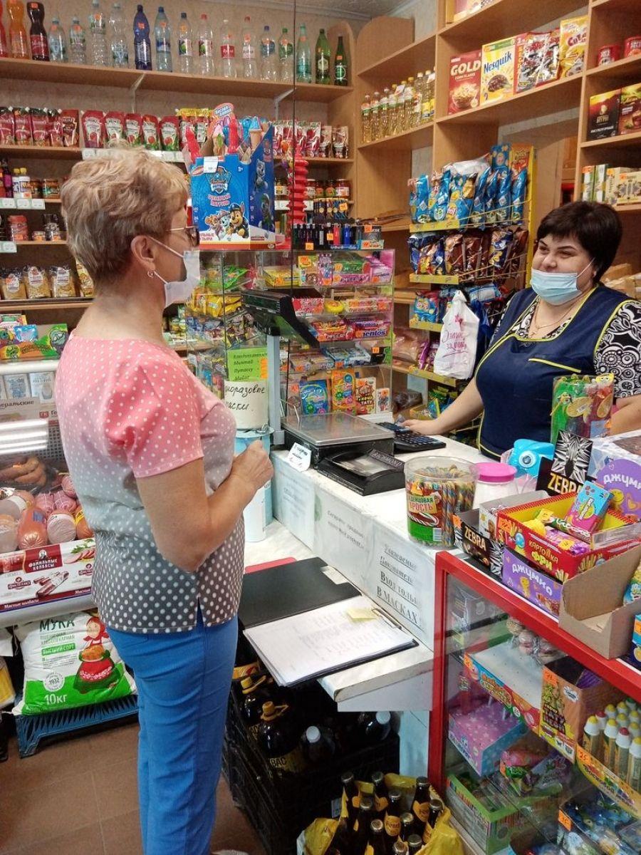 Продолжаются рейды по соблюдению масочного режима на предприятиях потребительского рынка района