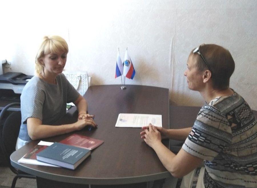 В Вязовском МО нотариус провел прием граждан