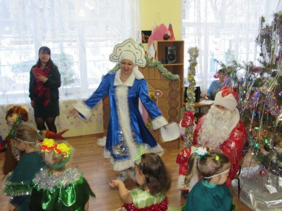 Встреча Нового года в детском саду села Ягодная Поляна