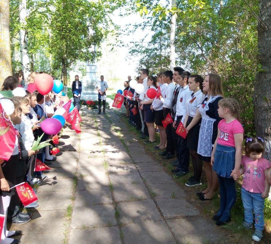 Торжественный митинг в честь Дня Победы в селе Кувыка