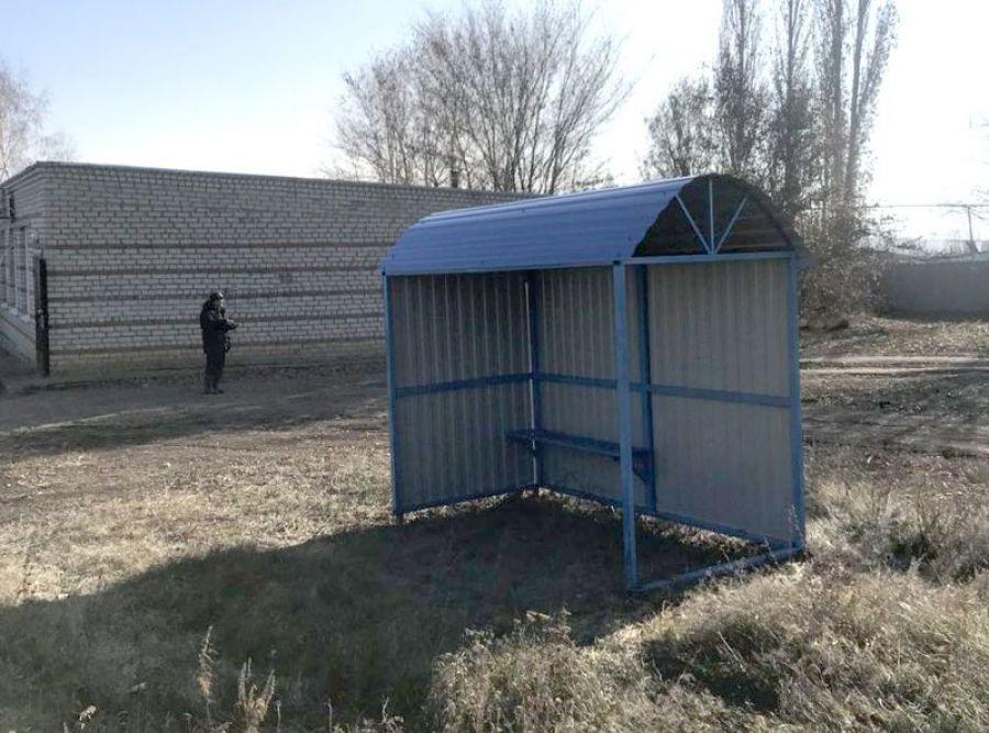 Остановочный павильон в селе Куликовка