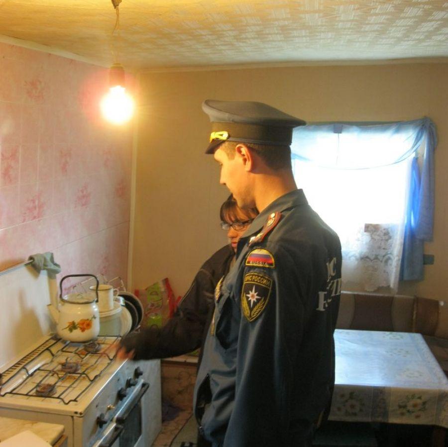 Профилактический рейд по пожарной безопасности в Октябрьском муниципальном образовании