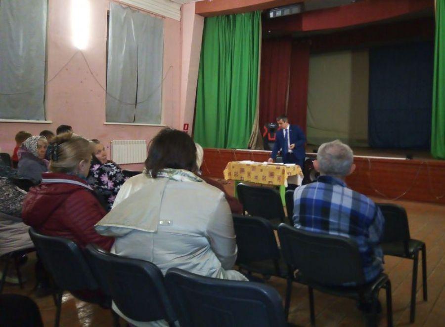 Встреча главы Идолгского муниципального образования с жителями села Широкое