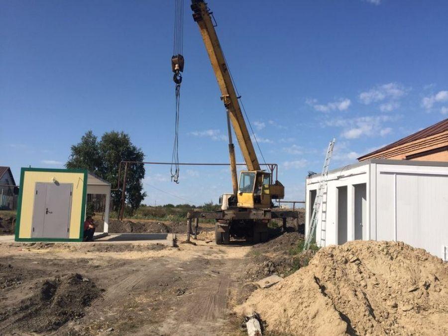 В деревне Ильиновка начат монтаж здания модульного ФАПа