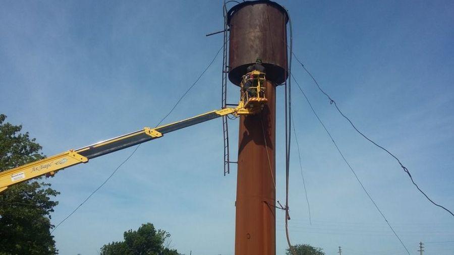 В п.Тимирязевский произведен ремонт водонапорной башни