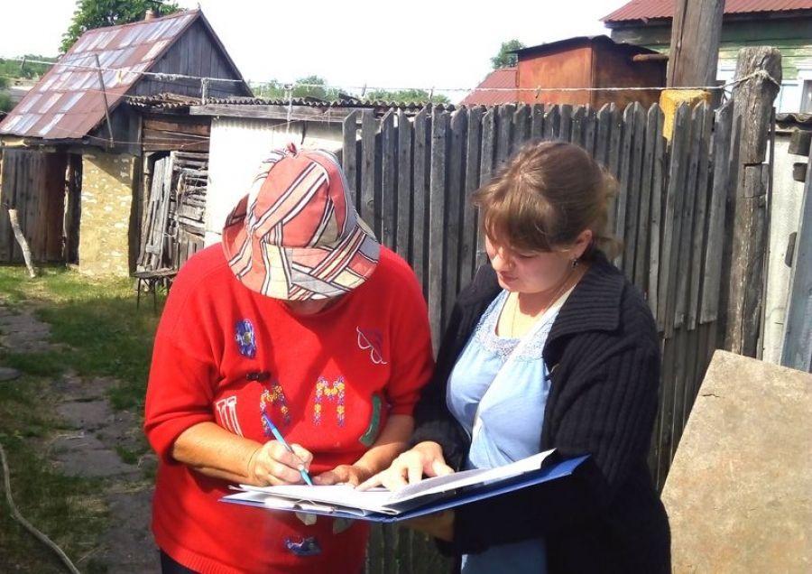 В Вязовском МО продолжается похозяйственный учет