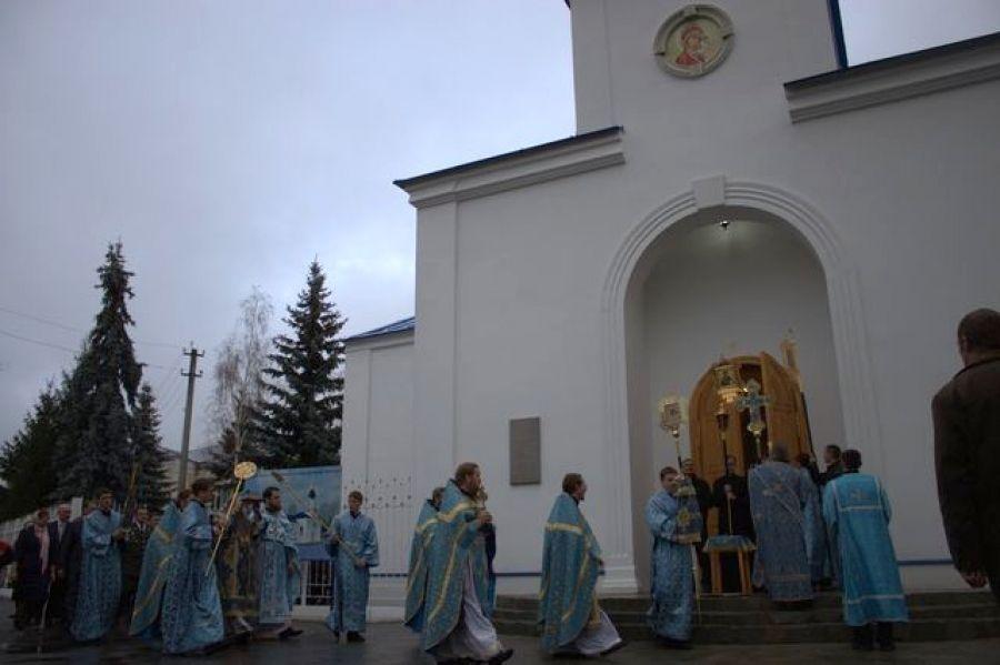 Владыка Лонгин совершил Великое освящение храма в честь Казанской иконы Божией Матери р.п.Татищево