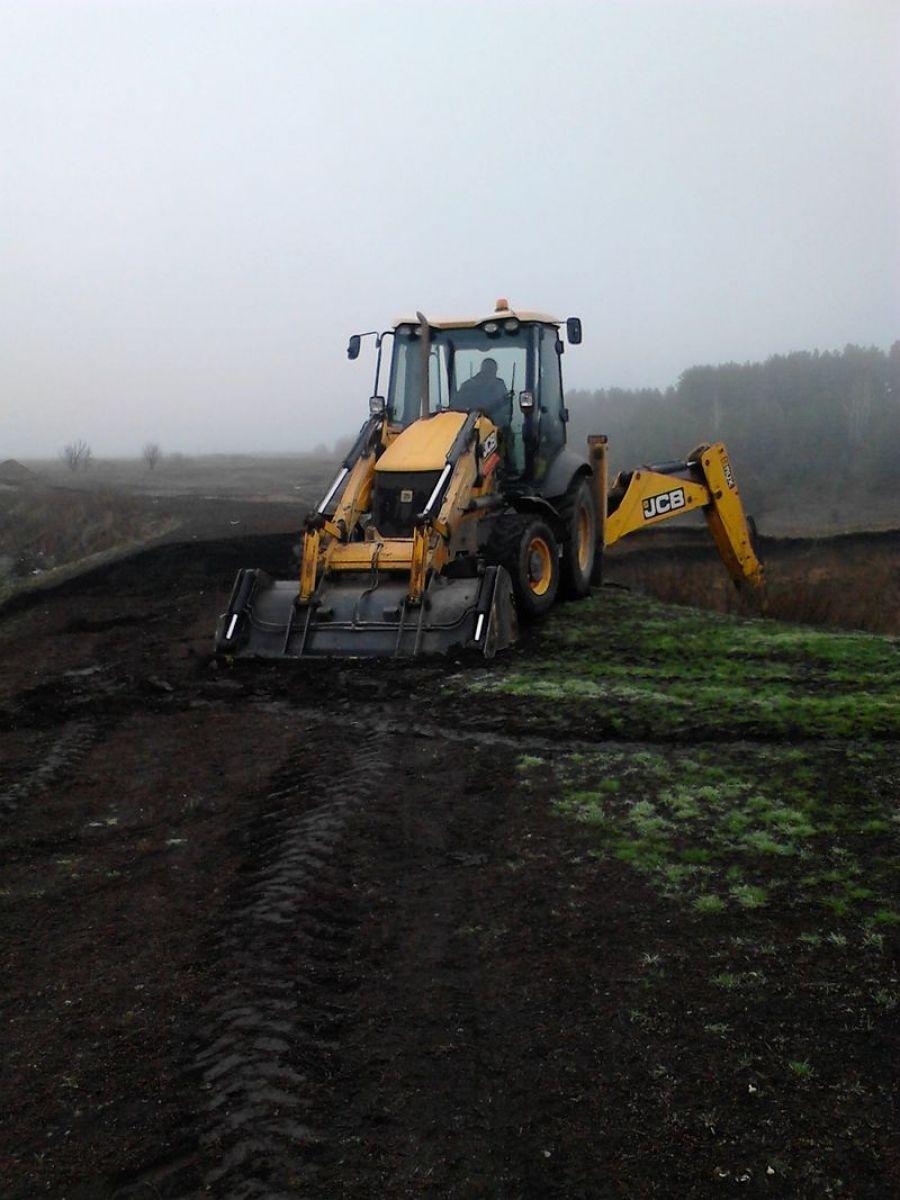 Восстановительные работы на пруду с. Большая Ивановка