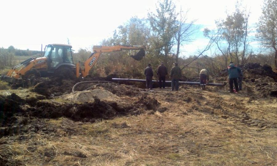 Замена участка водопровода