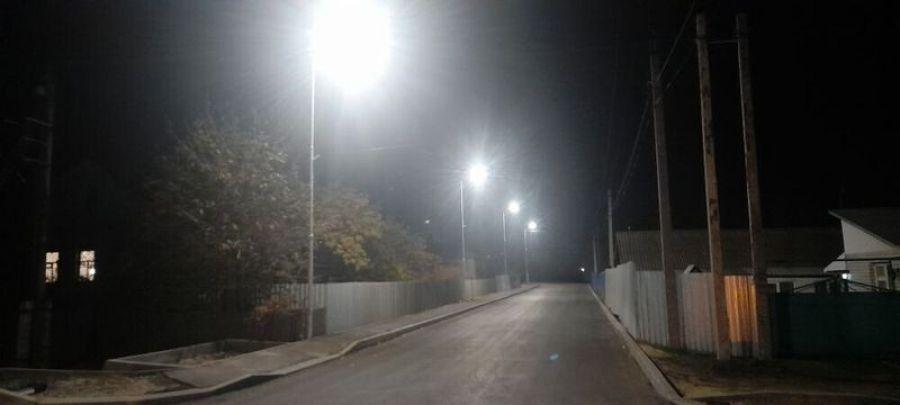 Завершены работы по монтажу линии уличного освещения в переулке Кирова