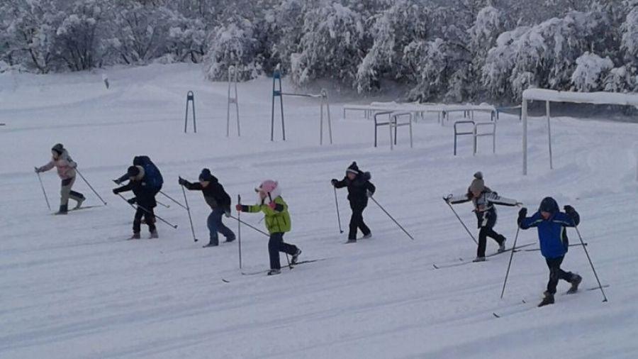 Лыжные гонки для малышей