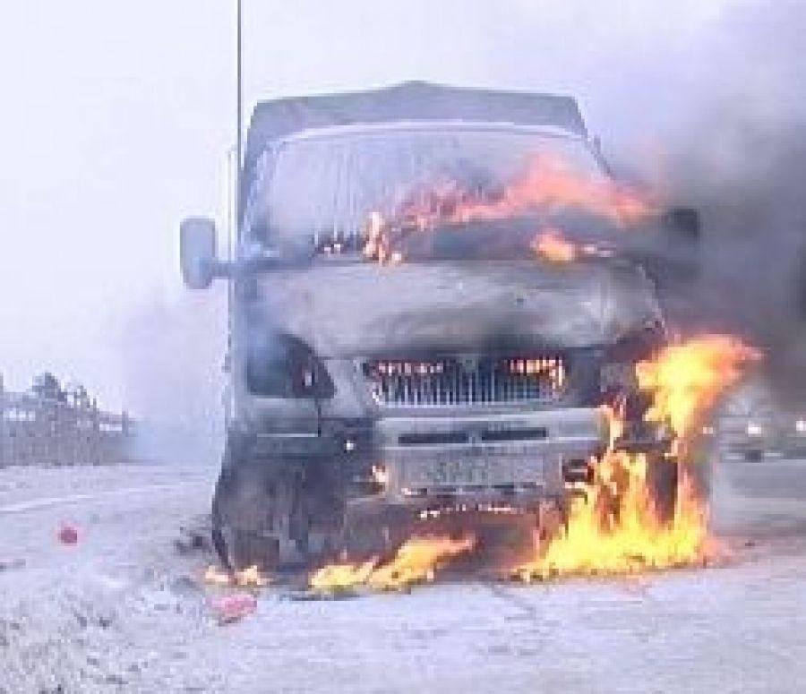 В с.Большая Каменка сгорел автомобиль «Газель»