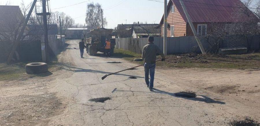 В Татищево ведутся дорожные работы