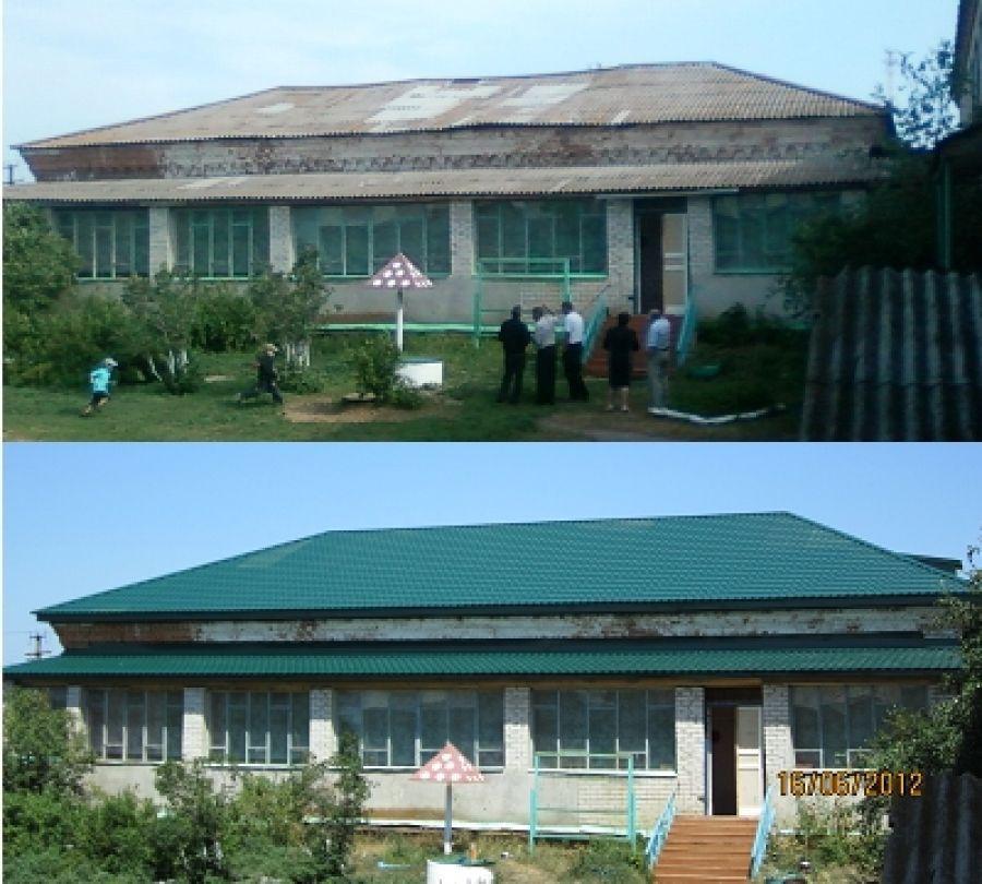 Завершен ремонт кровли здания начальных классов в школе села Октябрьский Городок