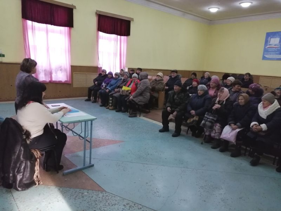 Специалисты УСПН провели встречу с жителями п.Садовый