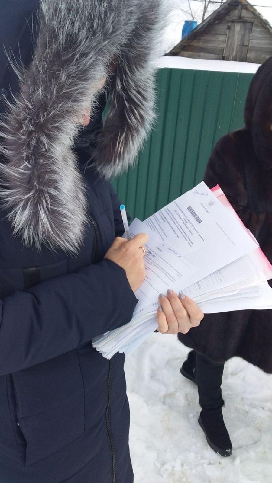 В р.п.Татищево проведен рейд по взысканию задолженности по имущественным налогам