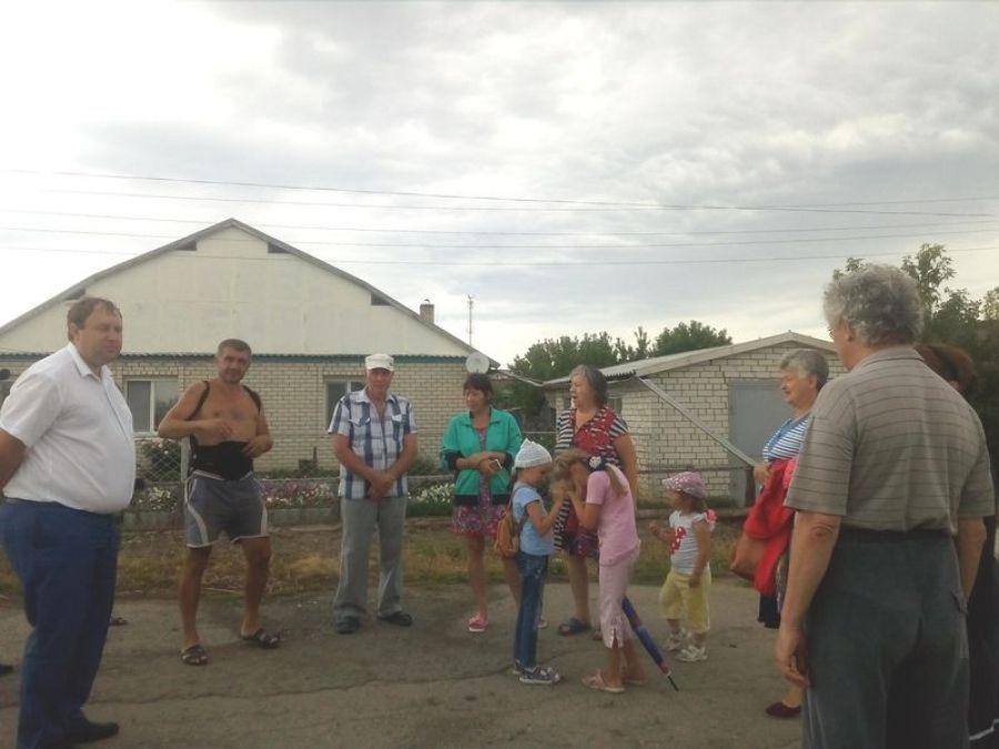 Встреча с жителями в с.Октябрьский Городок