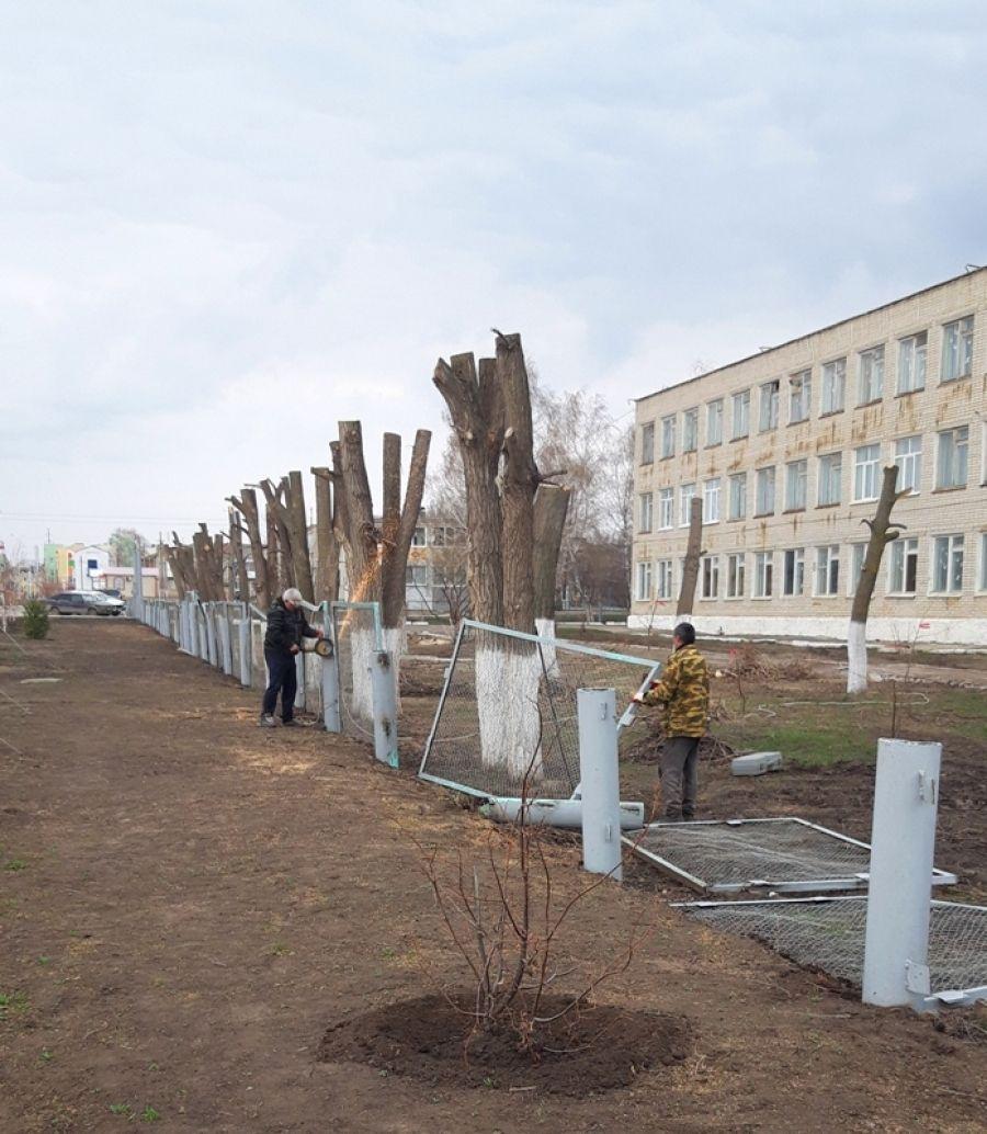 Ремонтные работы в Татищевском лицее