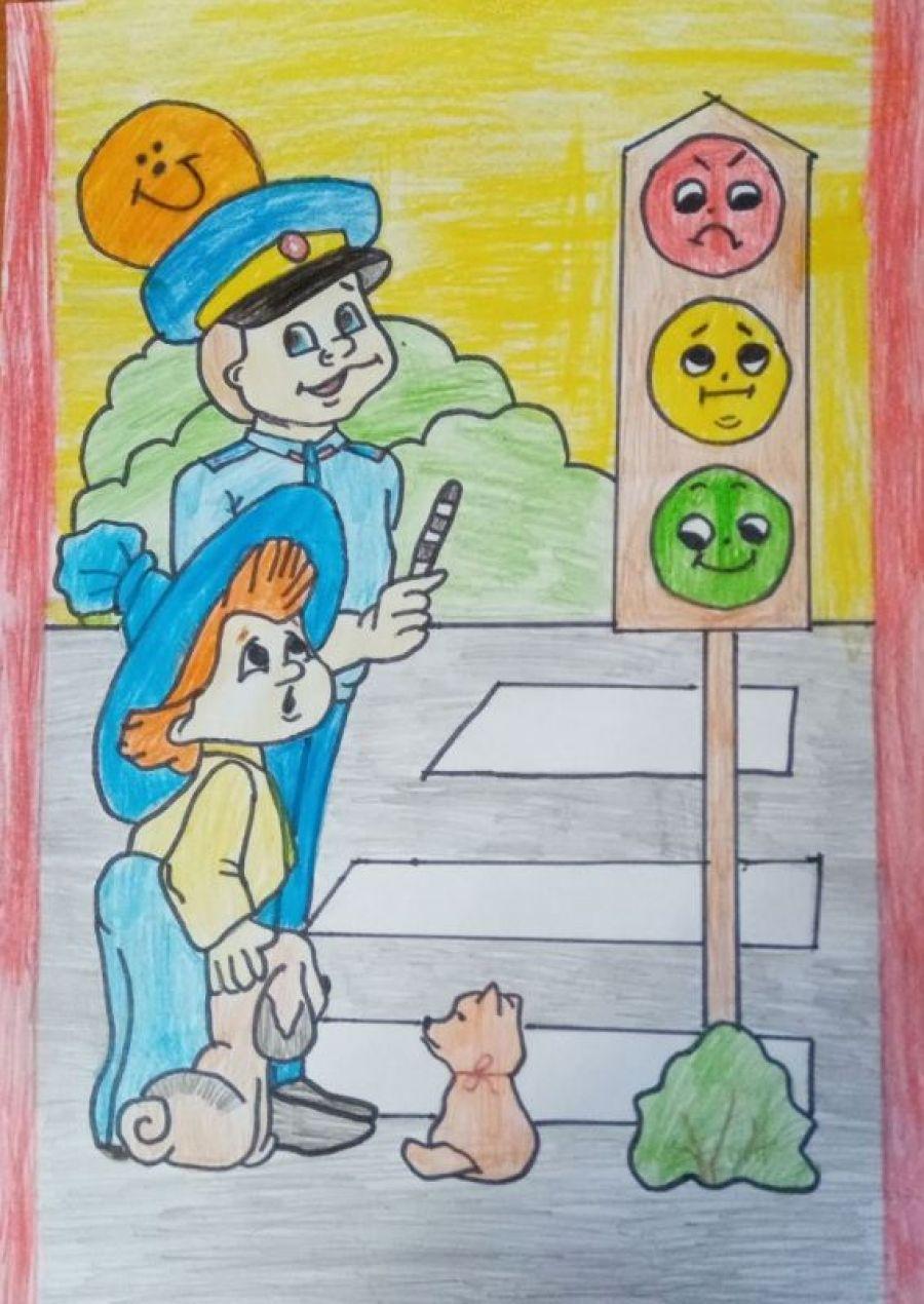 Конкурс рисунков «Мы за безопасность движения!»