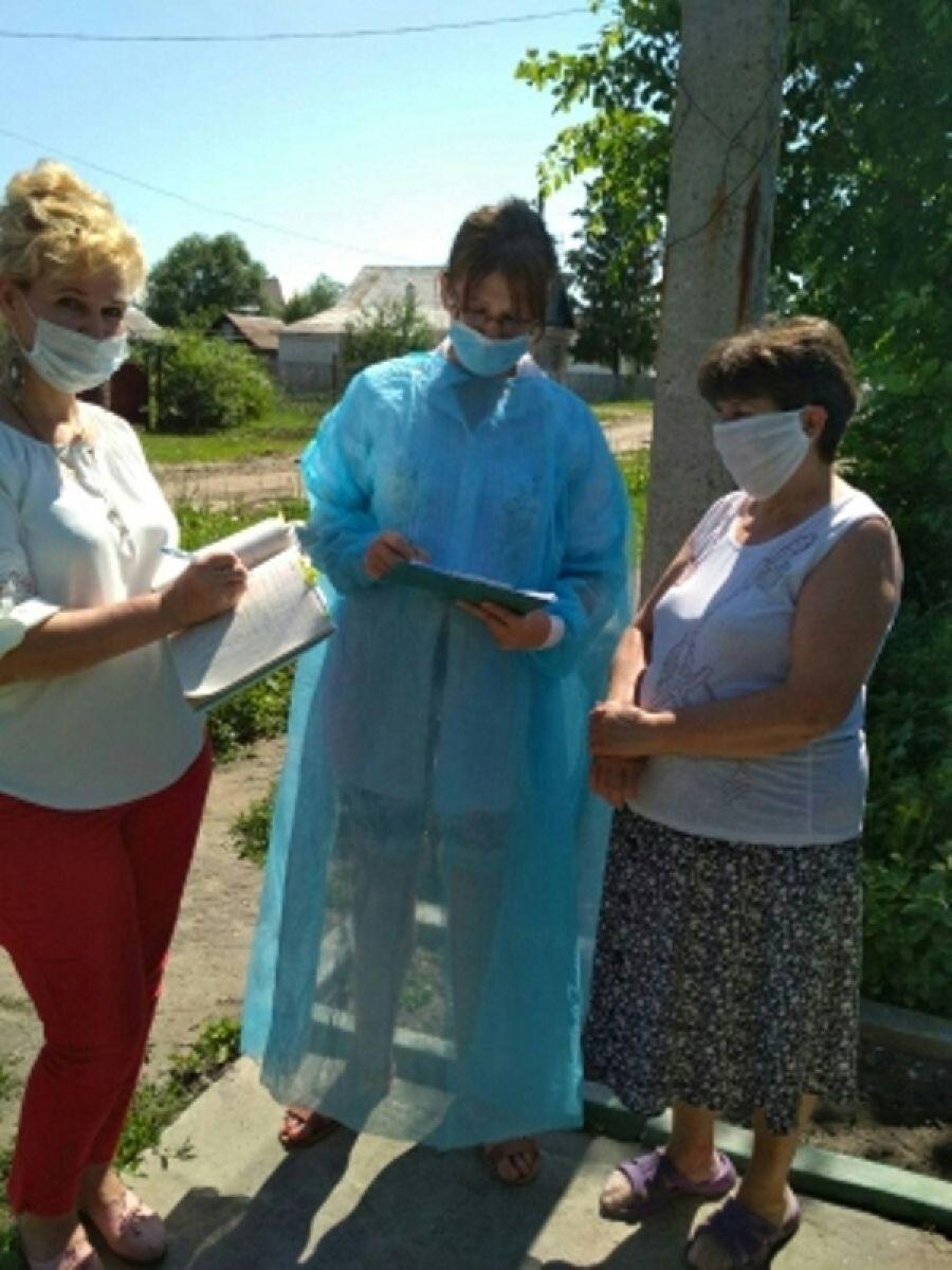 Подворный обход на территории Татищевского муниципального образования