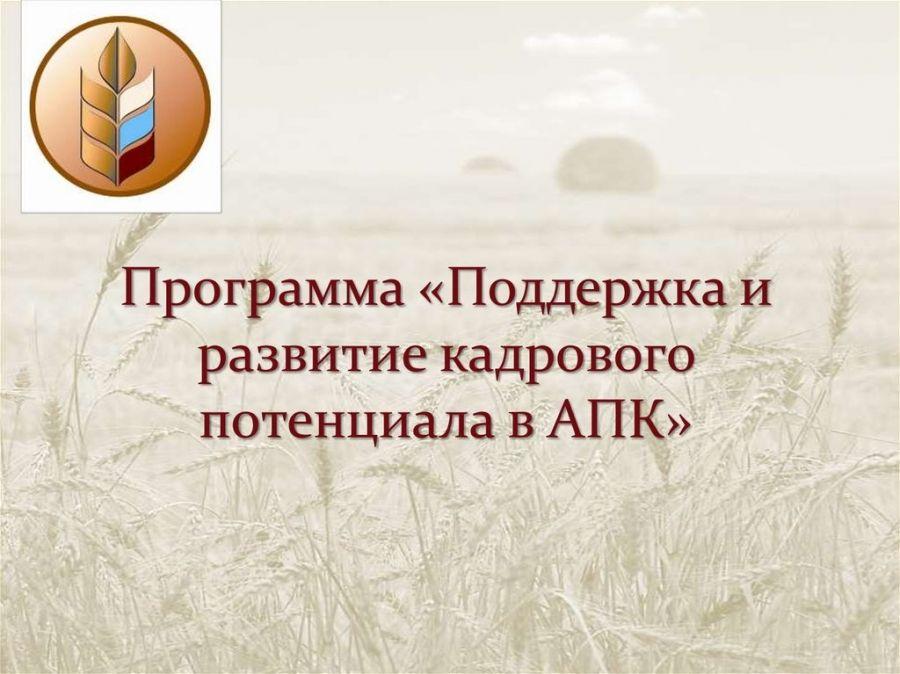 Государственная поддержка кадрового потенциала агропромышленного комплекса Саратовской области
