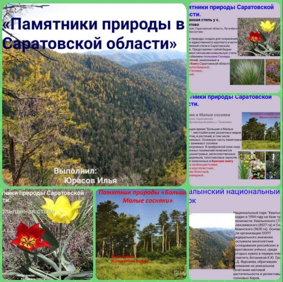 Памятники природы Саратовской области