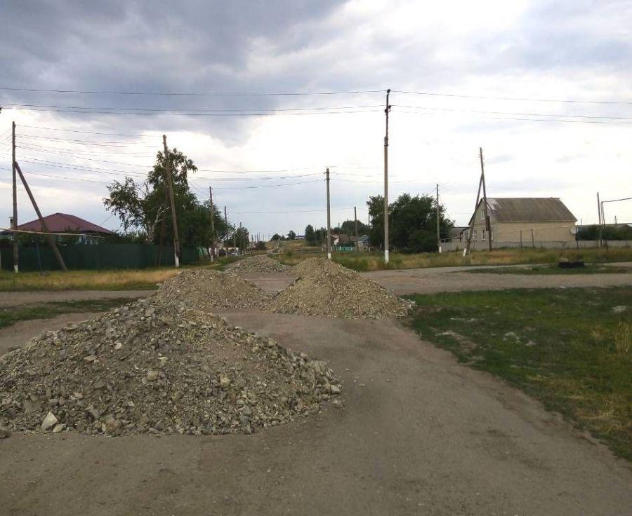 Ремонт дороги в селе Большая Федоровка