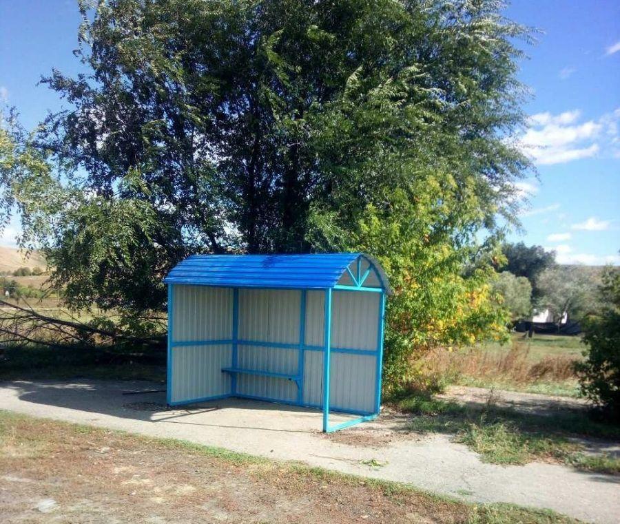 Новый остановочный павильон установлен в с.Сокур