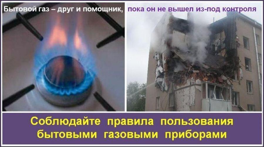 Соблюдение правил пользования газом - залог вашей безопасности