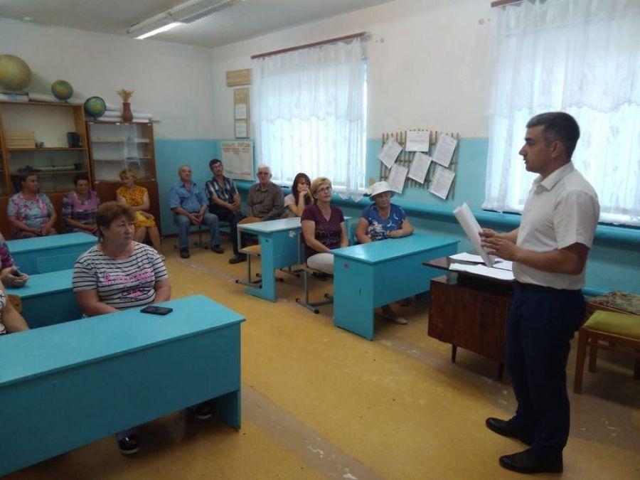 Встреча с жителями села Большая Каменка