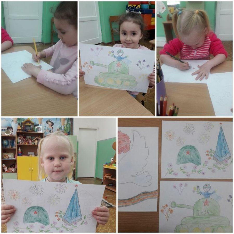 Дети рисуют Победу