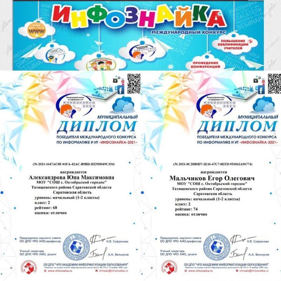 Международный конкурс по информатике и ИКТ «Инфознайка – 2021»